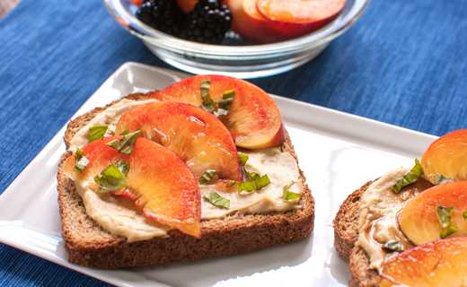 photo of Peach Bruschetta