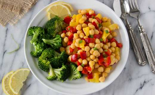 photo of Lemon Takeout Chickpea Bowls
