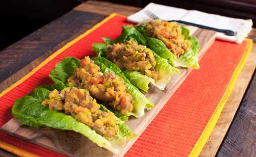 photo of Samosa Lettuce Cups