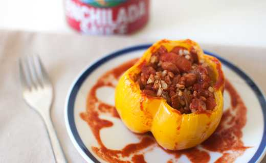 photo of Slow Cooker Enchilada Stuffed Bell Peppers