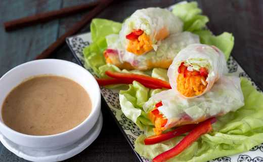 photo of Sweet Potato Spring Rolls