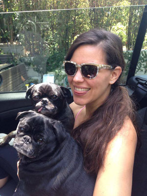 Lindsay S. Nixon and her pugs