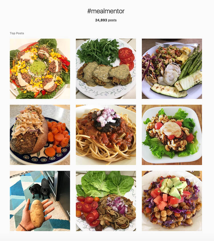 Members share photos of the recipes they make from the meal plan. #mealmentor