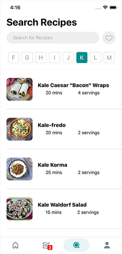 Search through 100s of Recipes
